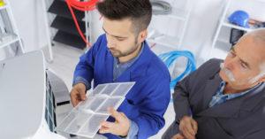 Installation d'une climatisation par un professionnel